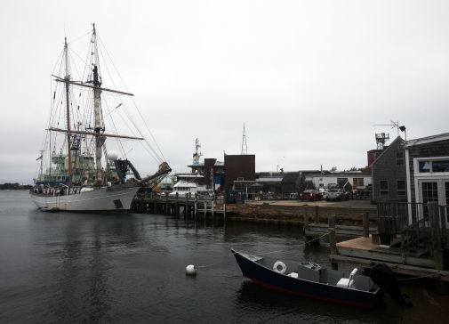 The SEA Semester ship Corwith Cramer is in Woods Hole for the first time in a year before it leaves for Ireland.  Steve Haines/Cape Cod Times